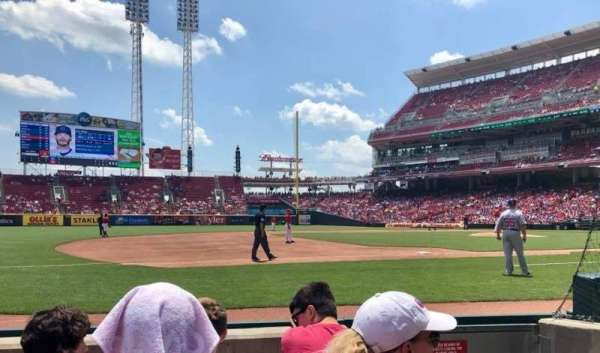 Great American Ball Park, section: 114, row: D, seat: 1