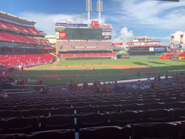 Great American Ball Park, section: 127, row: JJ, seat: 8