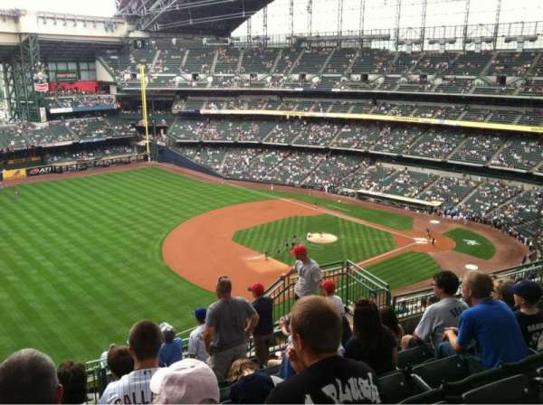 Miller Park, section: 434, row: 15, seat: 10