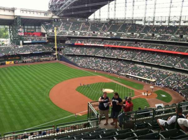 Miller Park, section: 433, row: 15, seat: 6