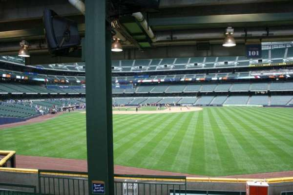 Miller Park, section: 101, row: 5, seat: Bench seat