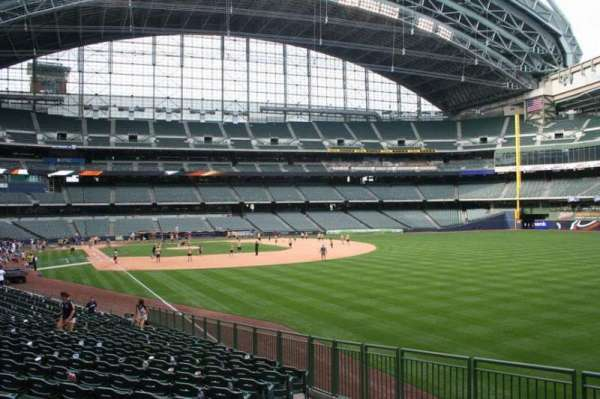 Miller Park, section: 106, row: 24, seat: 2