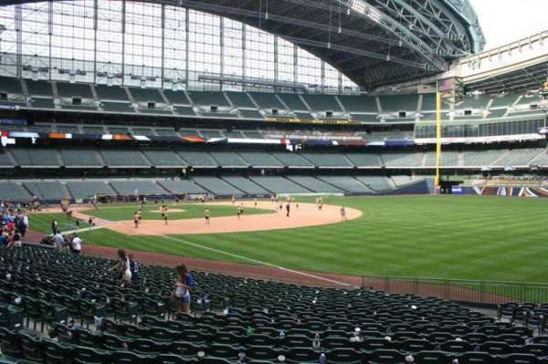 Miller Park, section: 108, row: 23, seat: 13