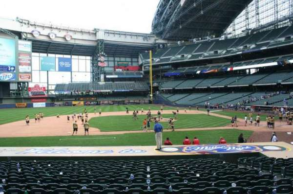 Miller Park, section: 122, row: 19, seat: 8