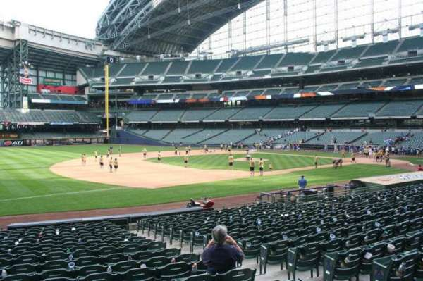 Miller Park, section: 125, row: 19, seat: 5