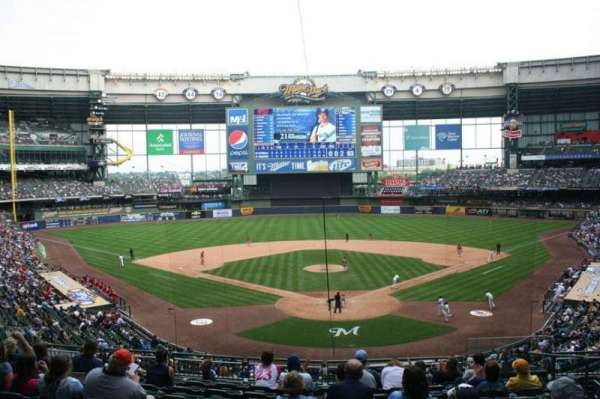 Miller Park, section: 219, row: 10, seat: 7