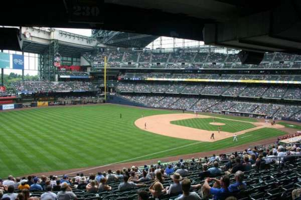 Miller Park, section: 230, row: 18, seat: 15