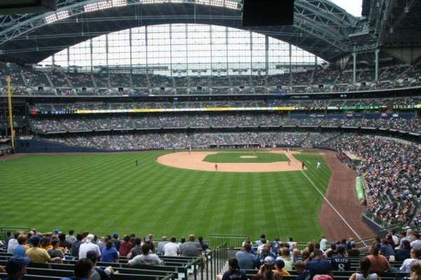 Miller Park, section: 234, row: 18, seat: Bench seat