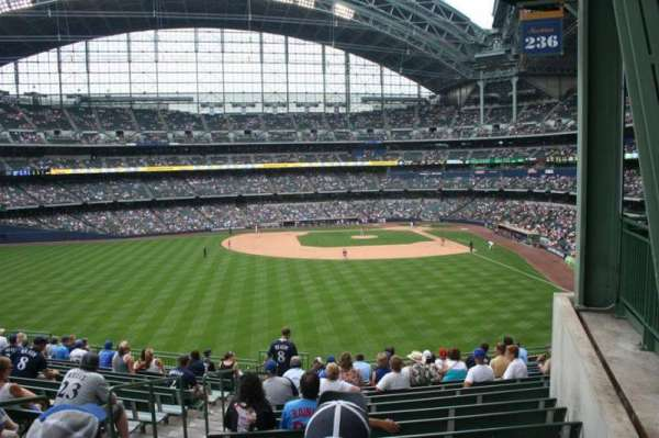 Miller Park, section: 236, row: 16, seat: Bench seat