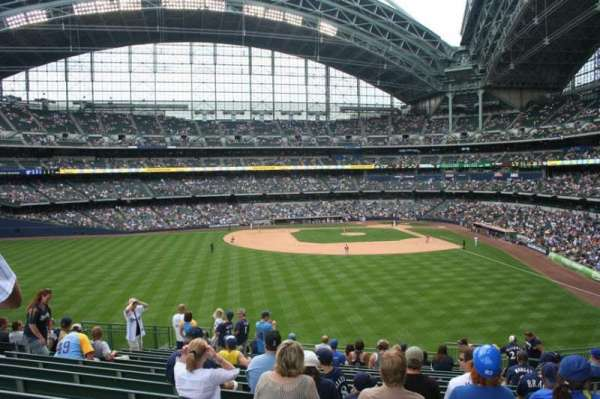 Miller Park, section: 237, row: 16, seat: Bench seat