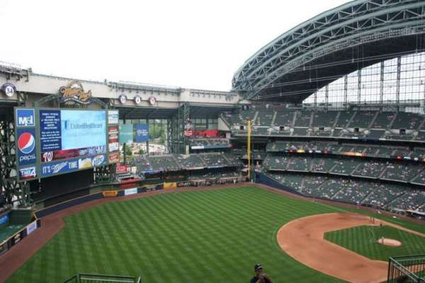Miller Park, section: 435, row: 15, seat: 13