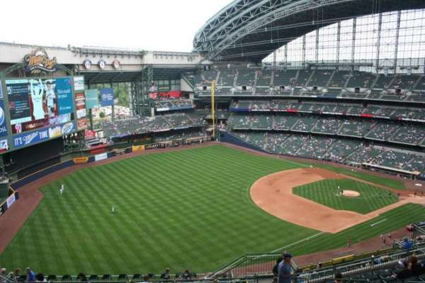 American Family Field, section: 436, row: 20, seat: 7