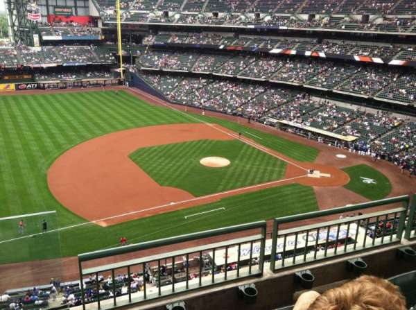 Miller Park, section: 431, row: 3, seat: 12