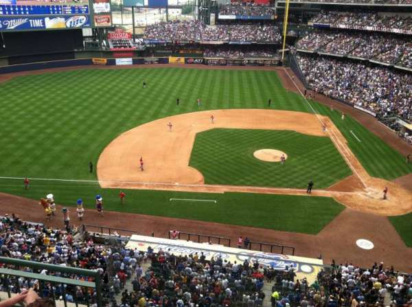 Miller Park, section: 428, row: 3, seat: 20