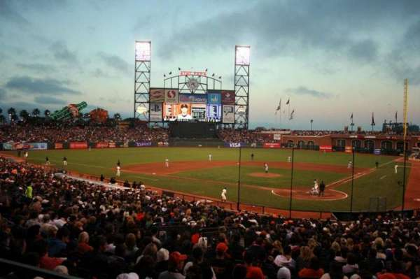 Oracle Park, section: 117, row: 30, seat: 26