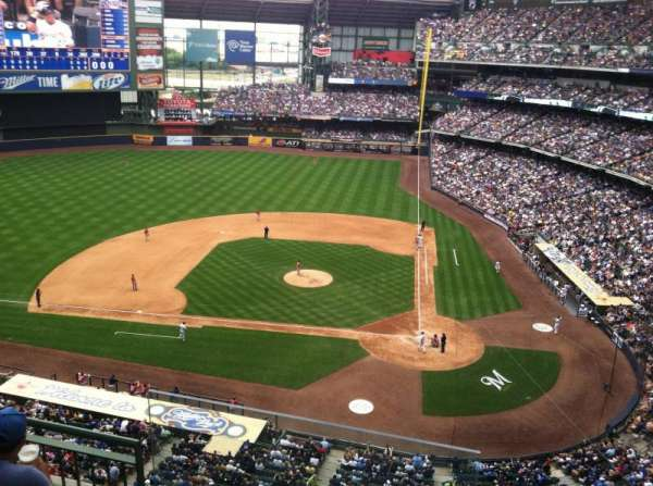 Miller Park, section: 426, row: 3, seat: 20