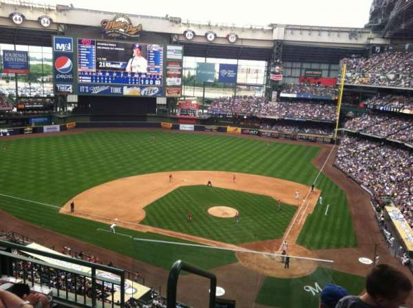 Miller Park, section: 425, row: 4, seat: 13