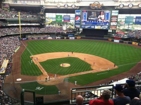 Miller Park, section: 418, row: 3, seat: 20