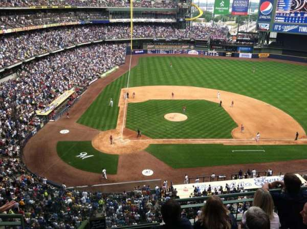 Miller Park, section: 416, row: 3, seat: 20
