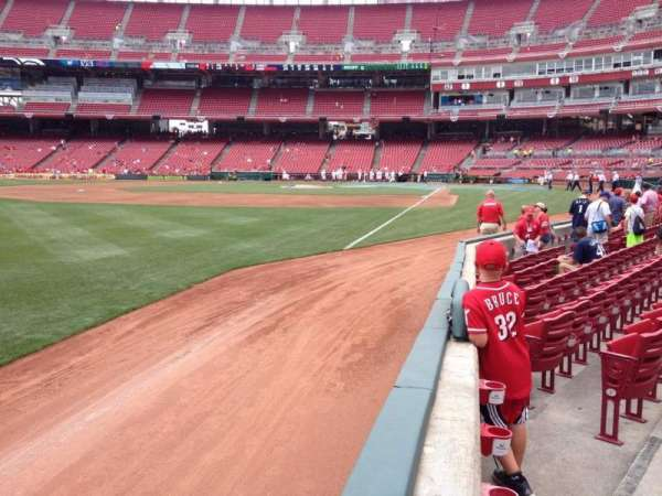 Great American Ball Park, section: 111, row: G, seat: 17