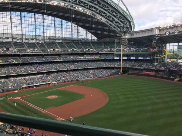 Miller Park, section: 409, row: 1, seat: 6