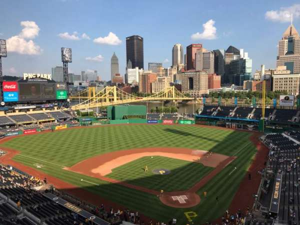 PNC Park, section: 318, row: H, seat: 1