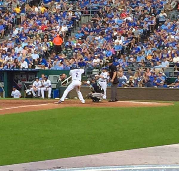 Kauffman Stadium, section: 116, row: B, seat: 6