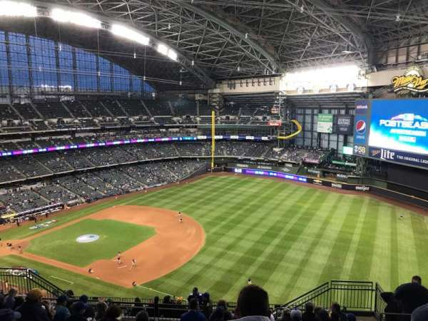 Miller Park, section: 410, row: 18, seat: 15