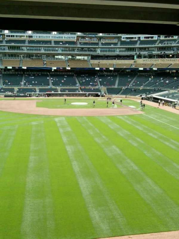 Target Field, section: 231, row: 3, seat: 12