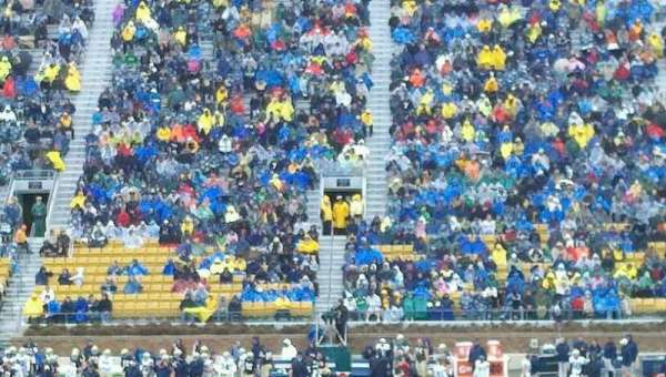 Notre Dame Stadium, section: 10, row: 23, seat: 10