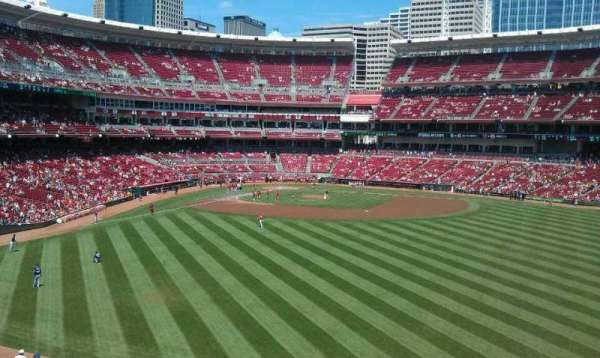 Great American Ball Park, section: 143, row: y, seat: 1