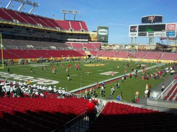 Raymond James Stadium, section: 127, row: X, seat: 4