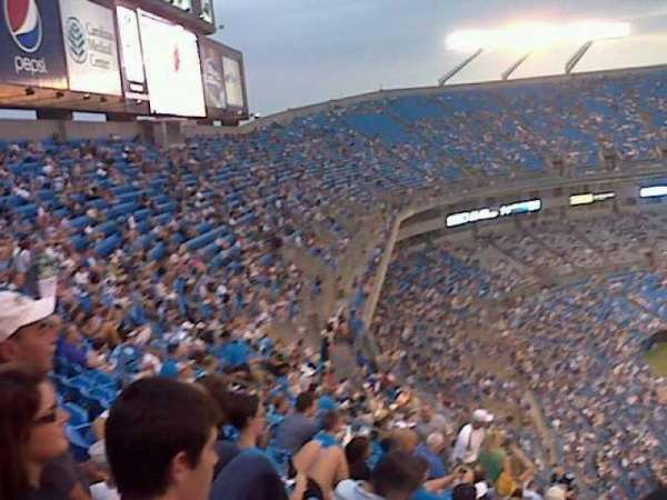 Bank of America Stadium, section: 525, row: 13