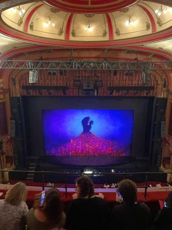 Bristol Hippodrome, section: Upper circle, row: D, seat: 25