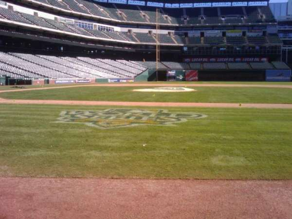 Globe Life Park in Arlington, section: Home Dugout