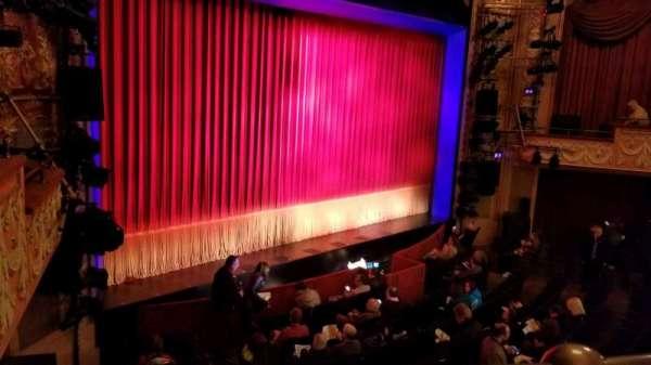 Longacre Theatre, section: Mezzanine Left, row: A, seat: 18
