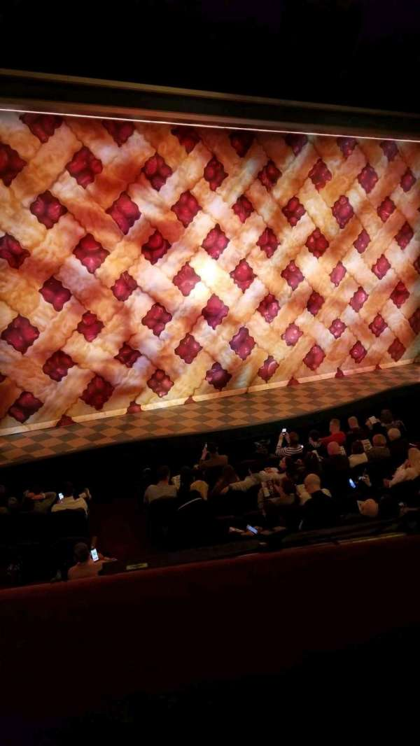 Brooks Atkinson Theatre, section: Front Mezzanine L, row: A, seat: 9