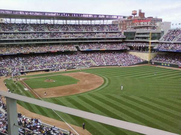 Target Field, section: 203, row: 1, seat: 17