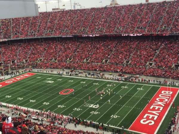Ohio Stadium, section: 29C, row: 34, seat: 8