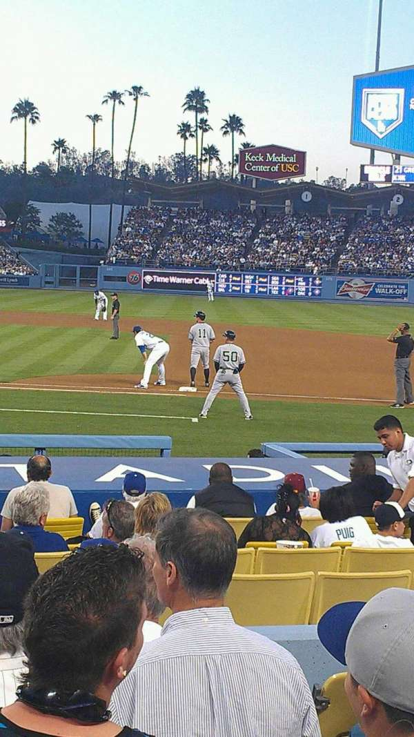 Dodger Stadium, section: 20FD, row: G, seat: 5