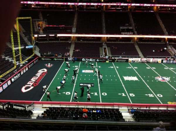 Quicken Loans Arena, section: C107, row: 23, seat: 10