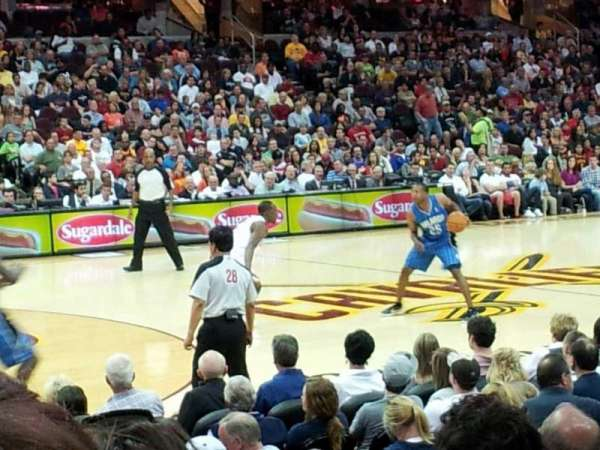 Quicken Loans Arena, section: 107, row: 10, seat: 9