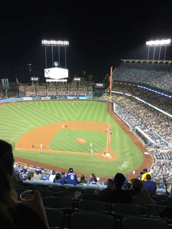 Dodger Stadium, section: 11TD, row: O, seat: 6