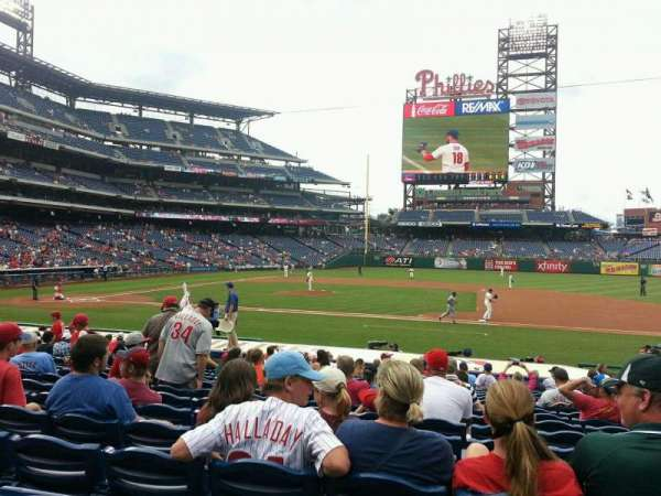 Citizens Bank Park, section: 116, row: 20, seat: 6