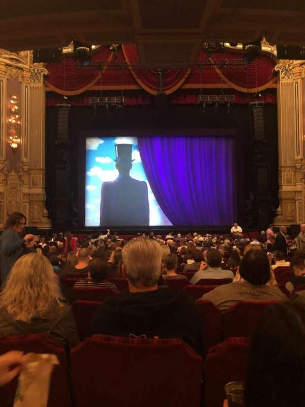 Oriental Theatre, section: Orchestra Center, row: X, seat: 108