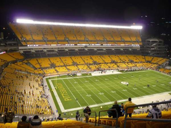 Heinz Field, section: 529, row: W, seat: 3 and 4