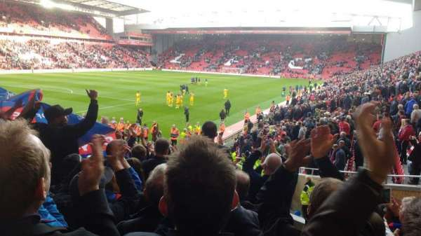 Anfield, section: 121, row: 23, seat: 005
