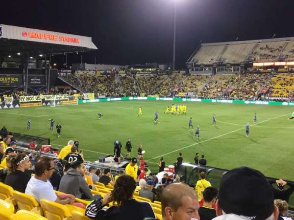 Mapfre Stadium, section: 126, row: 22, seat: 1