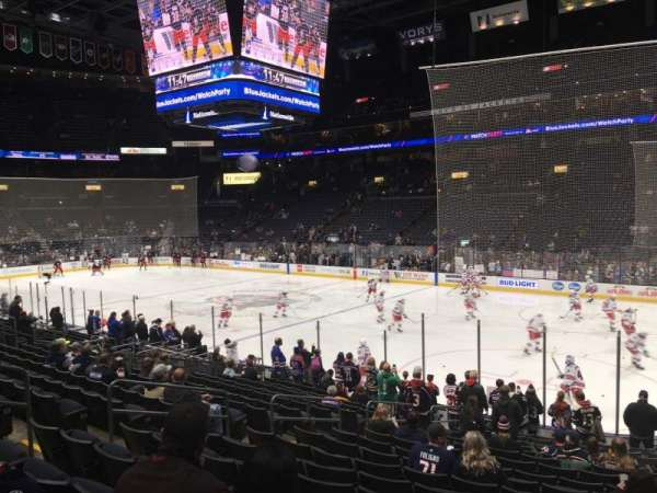 Nationwide Arena, section: 112, row: S, seat: 12