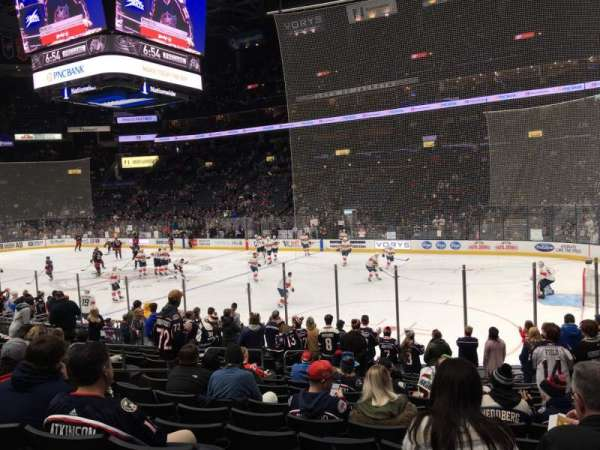 Nationwide Arena, section: 112, row: Q, seat: 10